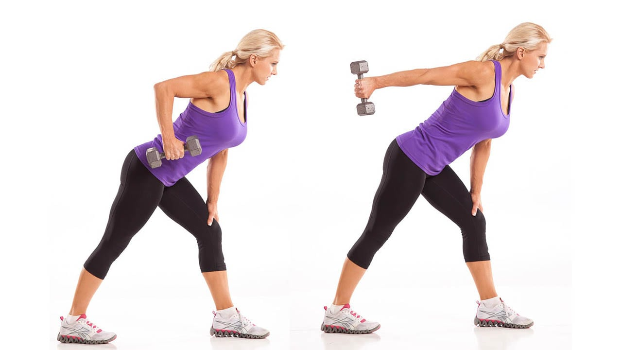 Renegade Row to Triceps Kickback