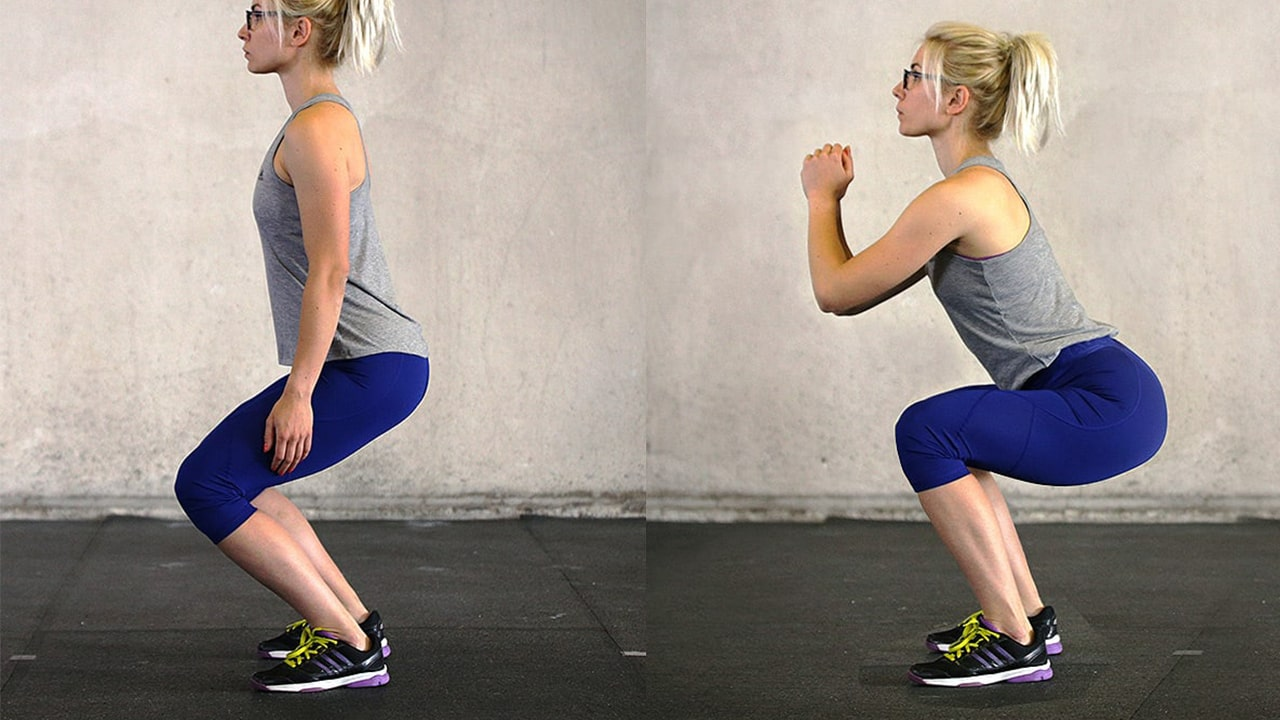 What is the proper squat form for beginners